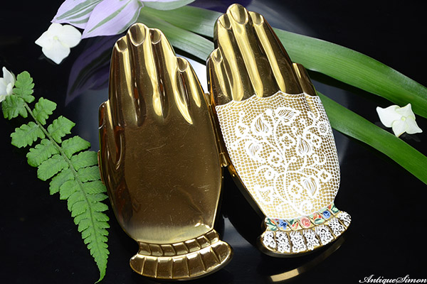 VOLUPTE Golden Gesture gay nineties mitt vintage compact 1948年 1946年 ボルプテ ヴォルプテ ゴールデン ジェスチャー ゼスチャー アンティーク彩門